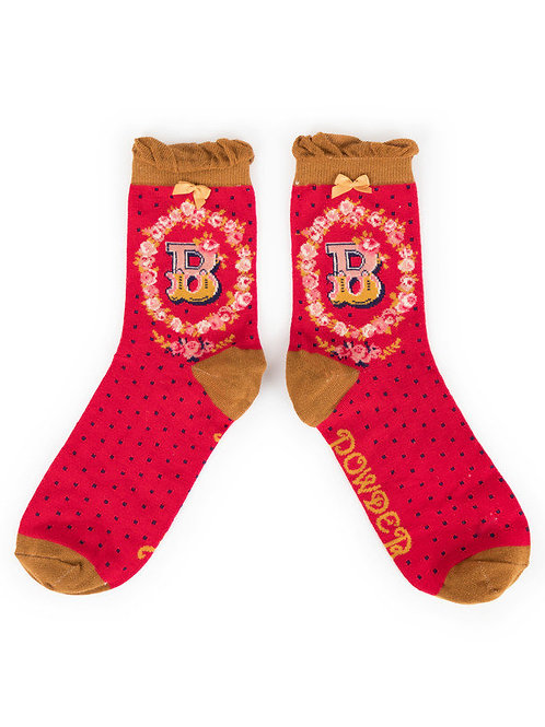 """B"" Ankle A-Z Socks"