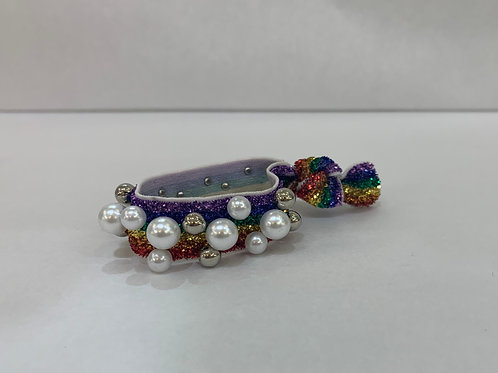 Hair Tie-Rainbow With Pearls and Beads