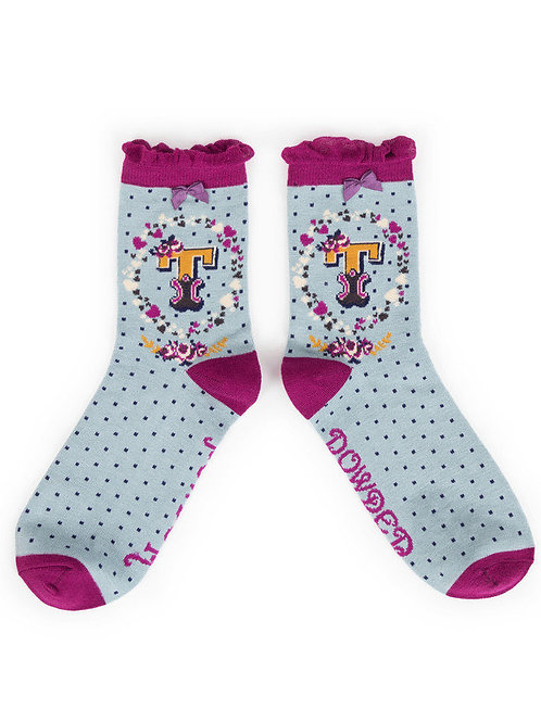 """T"" Ankle A-Z Socks"