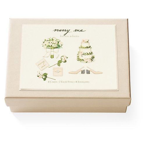 Marry Me Note Card Box