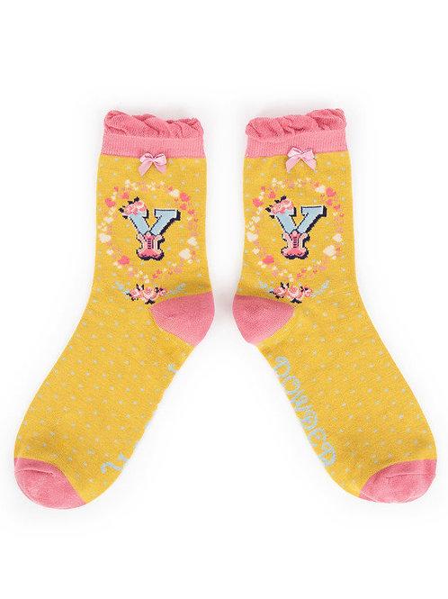 """""""Y"""" Ankle A-Z Socks"""
