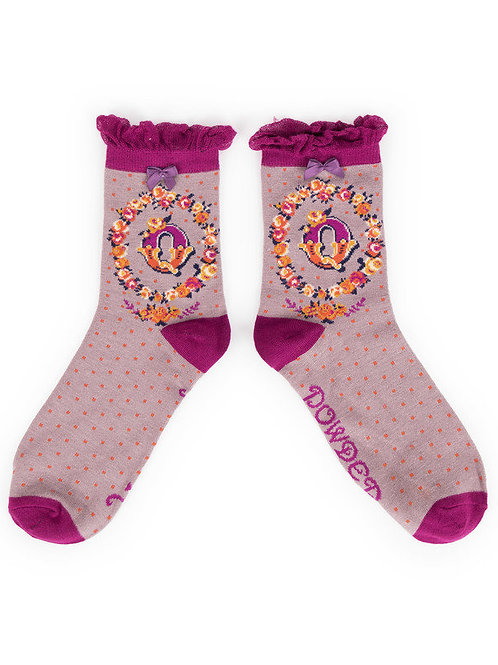 """Q"" Ankle A-Z Socks"