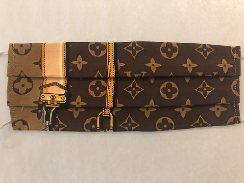 LV Brown W/ 2 Vertical Gold