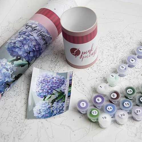 Happily Hydrangea Paint By Number Kit