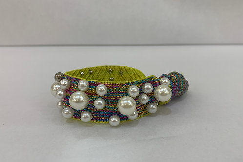 Hair Tie-Rainbow With Pearls