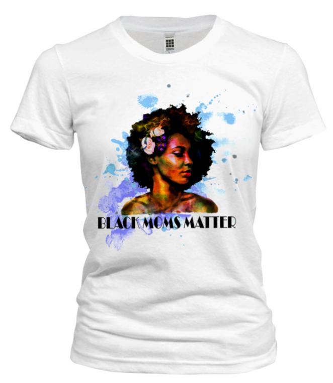 Black Moms Matter Tshirt - Blue