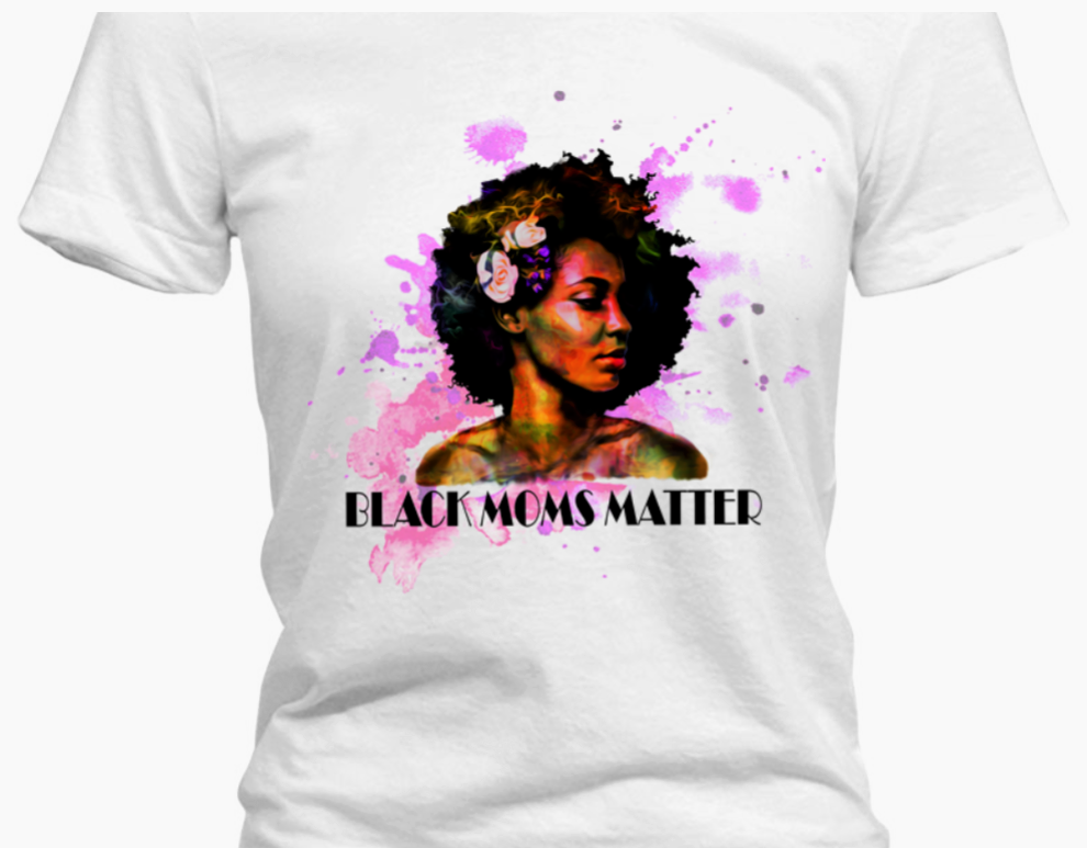 Black Moms Matter Tshirt - Pink