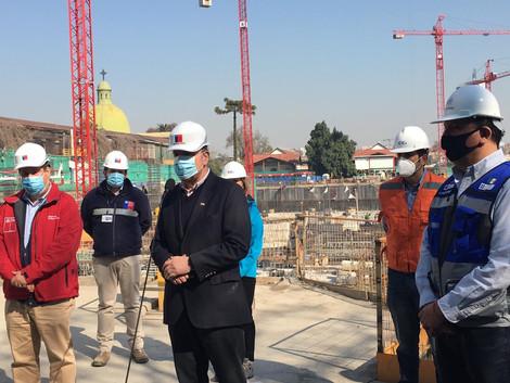 Ministro Moreno visita obras del nuevo Hospital del Salvador junto a Alcaldes