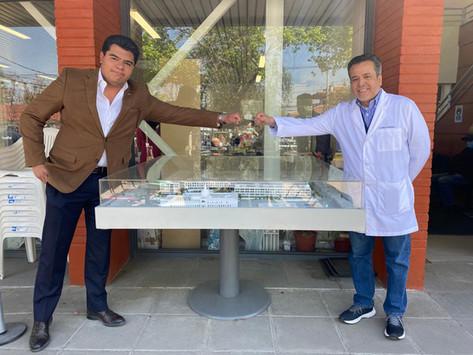 Maqueta del nuevo Hospital del Salvador y del Instituto Nacional de Geriatría Continúa en Viaje: