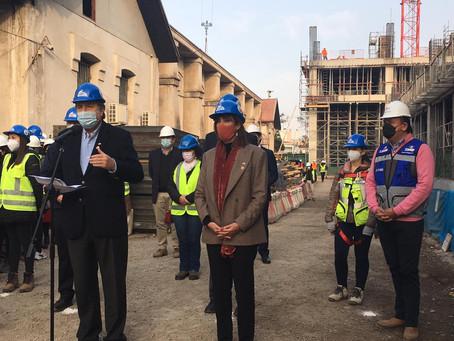 Cuatro Ministros de Estado Visitan las Obras del nuevo Hospital del Salvador