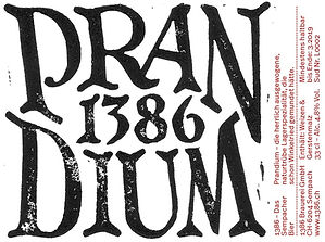 1386 Prandium, das Sempacher Bier, Craft Bier, Lager