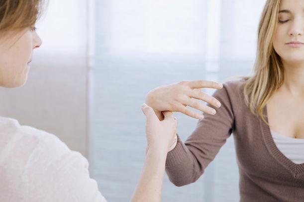 Paciente do sexo feminino Hipnoterapia
