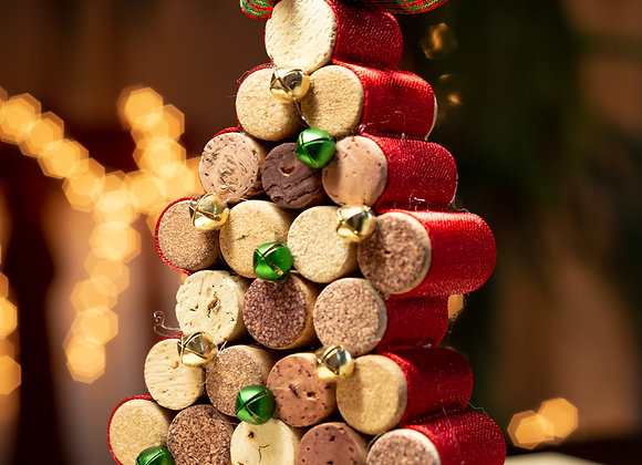 Stacked Corked Christmas Tree
