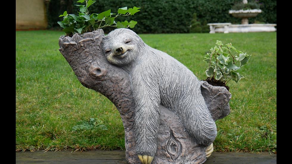 Sloth Garden Double Planter
