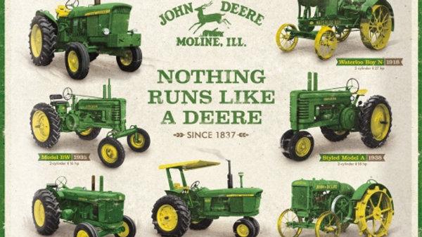 John Deere Nothing Runs Like a Deere 30x40cm Tin Sign