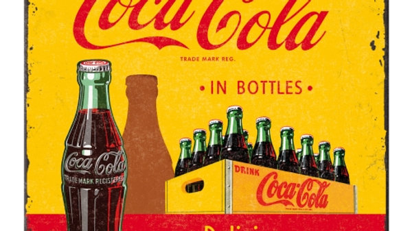 Coca Cola Yellow Metal Coaster