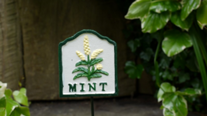 Chives Cast Iron Garden Herb Sign