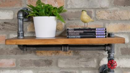 Wooden Pipe Shelf