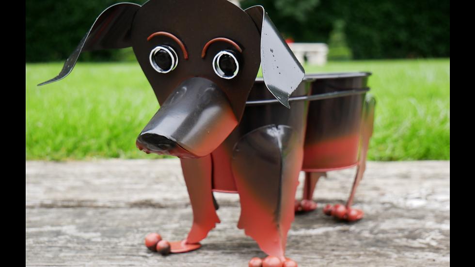 Sausage Dog Double Planter