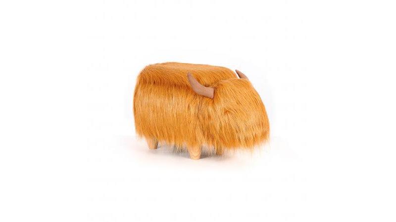 Hairy Cow Ottoman