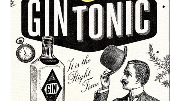 Gin and Tonic Metal Coaster