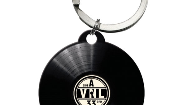 Vinyl Never Dies Keyring