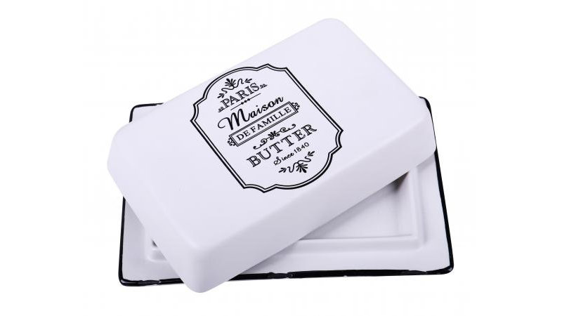 Parisienne Ceramic Butter Dish with Lid