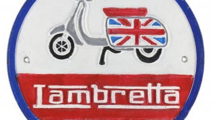 Lambretta Cast Iron sign