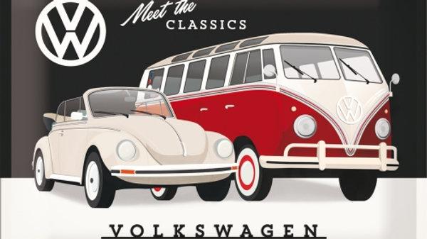 VW Volkswagen Meet The Classics 30x40cm Tin Sign