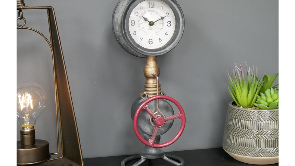 Red Pipe Clock
