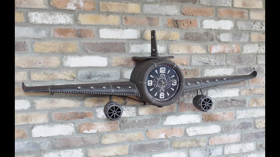 Brown Metal Plane Clock