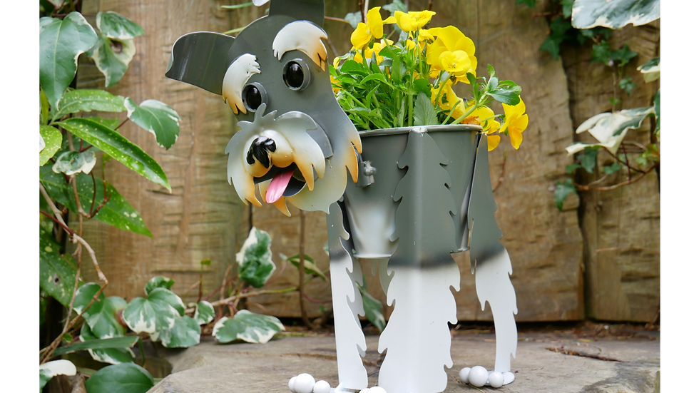 Scotty Dog Planter