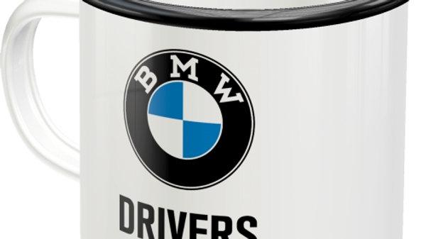 BMW Drivers Only Enamel Mug