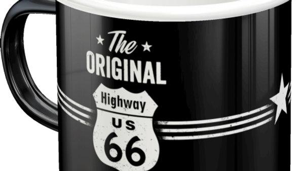 Route 66 Enamel Mug