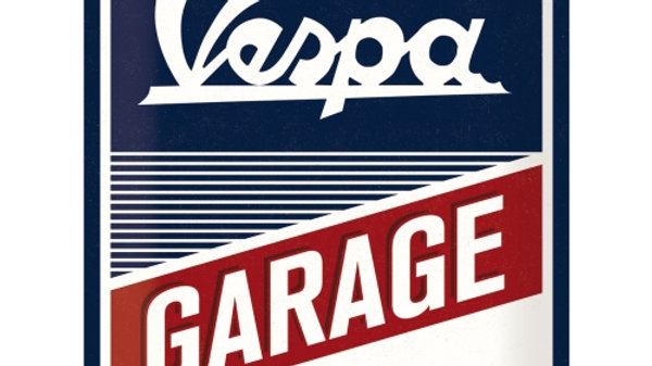Vespa Garage 30x40cm Tin Sign