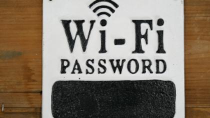 Wifi Password cast iron sign
