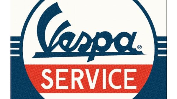 Vespa Service Metal Coaster