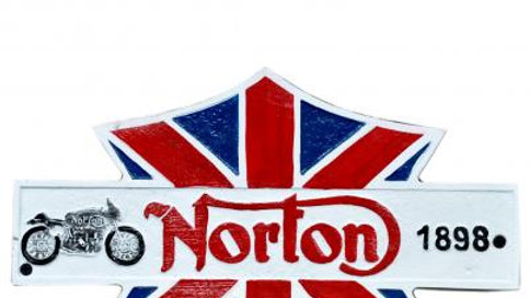 Norton 1898 Cast Iron sign