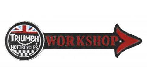 Triumph Workshop Arrow Cast Iron sign
