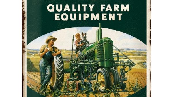 John Deere Quality Farm Equipment 30x40cm Tin Sign