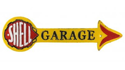 Shell Garage Arrow Cast Iron sign