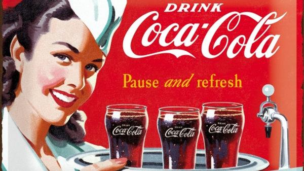 Coca Cola Red 30x40cm Tin Sign