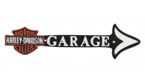 Harley Davidson Garage Arrow Cast Iron sign