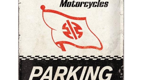 Kawasaki Parking Only 30x40cm Tin Sign