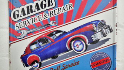 Garage Service and Repair tin sign