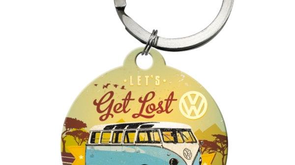 """VW Volkswagen Camper """"Get Lost"""" Keyring"""