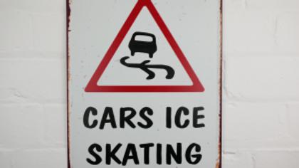 Cars Ice Skating tin sign