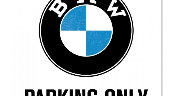 BMW Parking Only Metal Coaster