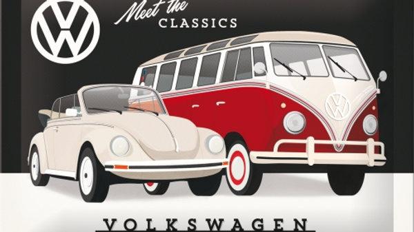 VW Volkswagen Meet The Classics 15x20cm sign