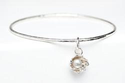 Pearl charm bangle